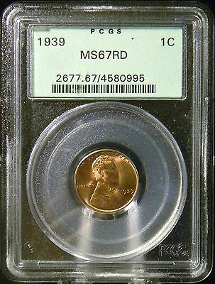 1939 Lincoln Wheat Cent PCGS MS 67 Old Green Holder