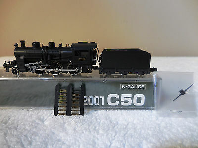 N Scale Kato 2001 C50 JNR 2-6-2 Steam Locomotive Rd#C5078 Mokei Imports NEW!!