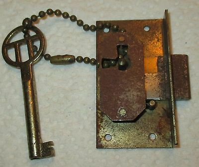 Vintage Chest Lock With Key Made In Germany Lot#schris-60
