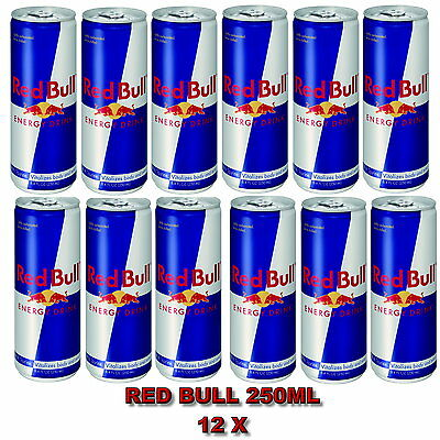 Red bull Energy Drink   Redbull can wholesale 12 x 250ml free postage