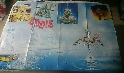 IRON MAIDEN  POSTER MAGAZINE VINTAGE  VERY RARE 1988 crash metal hammer