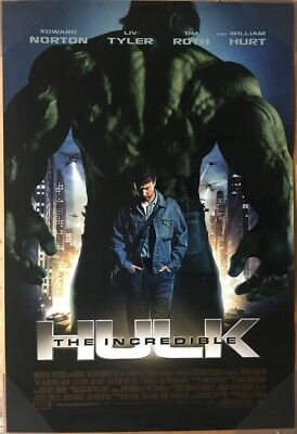 INCREDIBLE HULK MOVIE POSTER 2 Sided ORIGINAL FINAL 27x40 EDWARD NORTON