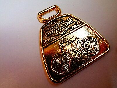 First Harley Single Cylinder Motorcycle Watch Fob 1987 HD Dealership Key Chain