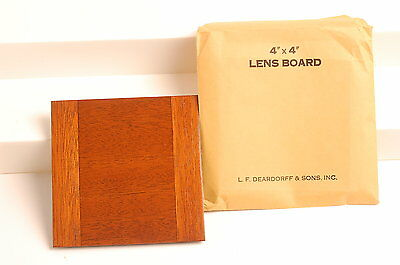 "Genuine Deardorff 4""x4"" Blank Lens Board New"