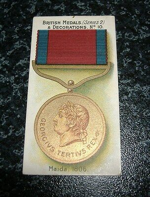 Taddy - British Medals & Decorations (Series 2) No10 - Maida 1806