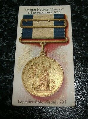 Taddy - British Medals & Decorations (Series 2) No5 - Captains Gold Medal 1794
