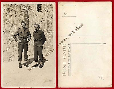 #22790 Greece 1940s. Soldiers. Photo PC size.