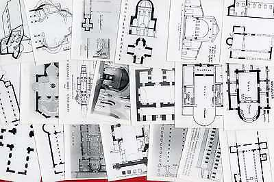#21439 Greece 1950s? 38 photos 11x9 cm, archaeological-architectural drawings