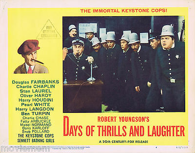 DAYS OF THRILLS AND LAUGHTER Lobby Card 4 The Keystone Cops