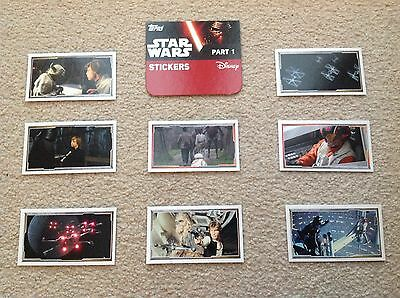 Part 1 & 2 STICKERS 15p Each Topps Star Wars Force Awakens, Choose From List