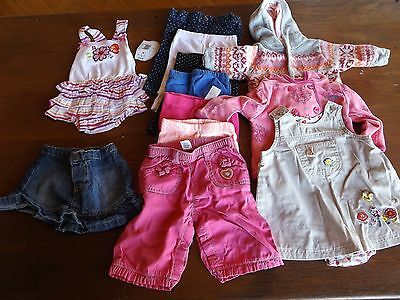 Newborn Baby Girl Clothes LOT 15 Pieces GAP Carters Lucky Leggings Dress Skirt