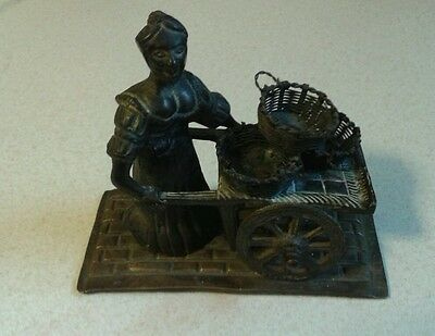 Vintage Brass Molly Malone Figurine Sculpture Collectible Ireland Heavy