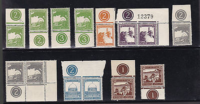 PALESTINE Pictorials Collection of Different Plate Numbers All F-VF MNH