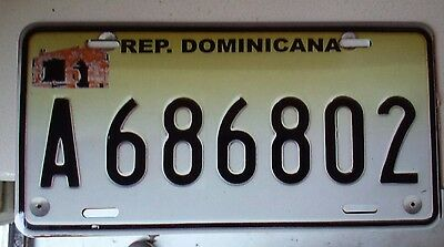 Novelty license plate Dominican Republic