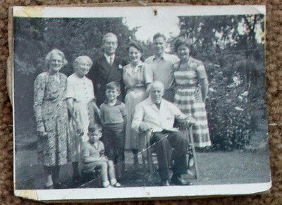 Old Photo Family Man Woman Child Group