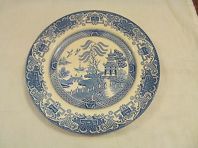 Ironstone Staffordshire Blue and White Plate