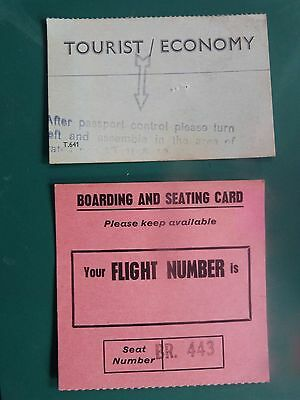 1970 Airport Boarding Cards Malta x2