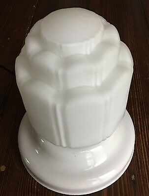 Flush Mount Fixture Wedding Cake Style Shade Art Deco Great Vintage Antique