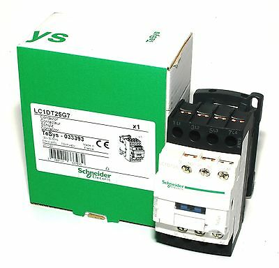 Schneider Electric, Lc1Dt25G7 Contactor, 25A, 120Vac Coil, 4-Pole **new** [Vb]