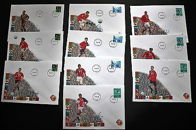 Collection Of 10 Different 1998 Norwegian Football Players Covers