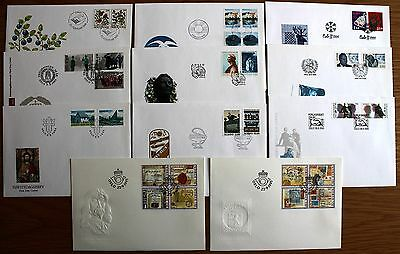 COMPLETE YEAR SET OF 1995 UNADDRESSED FDC's FROM NORWAY OSLO HANDSTAMPS.