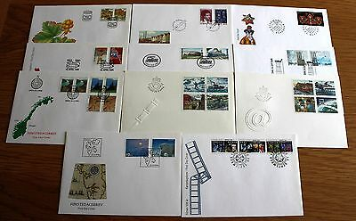 COMPLETE YEAR SET OF 1996 UNADDRESSED FDC's FROM NORWAY OSLO HANDSTAMPS.