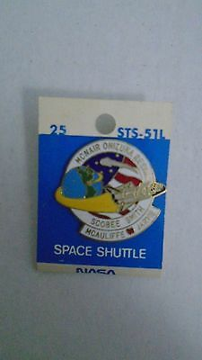NASA Space Shuttle Challenger STS-51L Pin McNair Smith Scobee Resnik Mcauliffe
