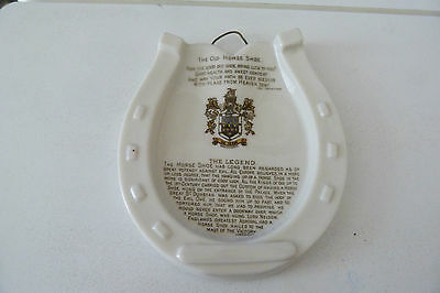 Goss China The Old Horse Shoe Plaque