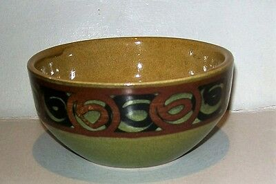 Brixham pottery Small bowl c1960s/70s With label