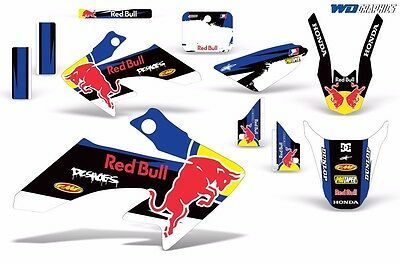 Graphic Kit Honda CRF 50 F MX Dirt Pit Bike Decals w/ Backgrounds CRF50 04-15 Rb