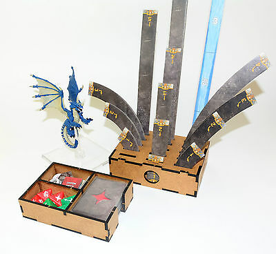 D&D Attack Wing Template Holder and Damage Deck Box Dungeon and Dragons