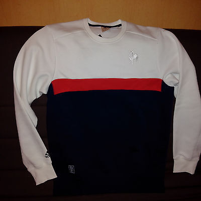 Sweat ADIDAS FFR France RUGBY  taille M NEUF modèle COLLEGIATE