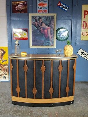 Vintage Mid Century 1960s 70s Teak Cocktail Bar Home Drinks Cabinet Kitsch Xmas
