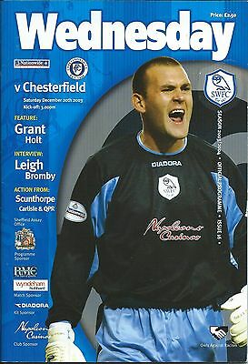 SHEFFIELD WEDNESDAY v CHESTERFIELD - 20th December 2003