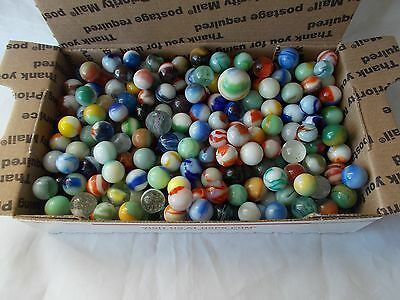 ~☆~ Small Flat Rate Box Full Of Vintage Swirl Marbles ~☆~ Great Selection Aa