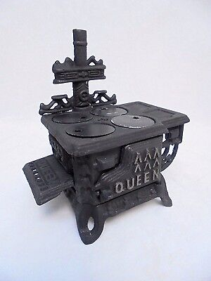 Queen Miniature Cast Iron Stove Repro Greycraft Grey Iron Casting Playhouse Doll