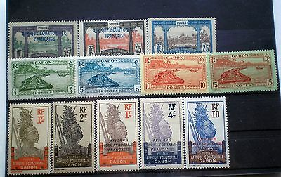 GABON FRENCH AFRICA EQUATORIALE MNH COLLECTION 12 Stamps