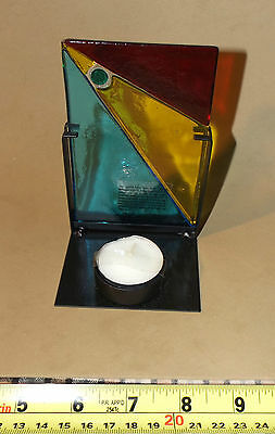Hand Crafted Fused Glass Tea Candle Holder - Made in Italy - Very Unique