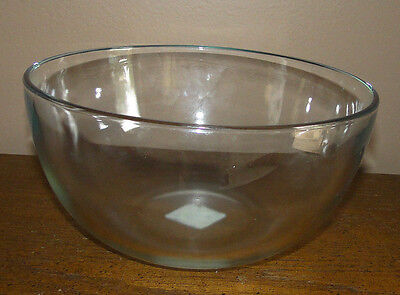 "Anchor Hocking CLEAR Glass 8 1/4"" Round Mixing Bowl"