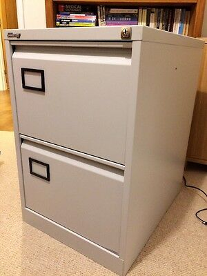 2 Drawer Storage Connections Steel Foolscap Filing Cabinate / Light Grey