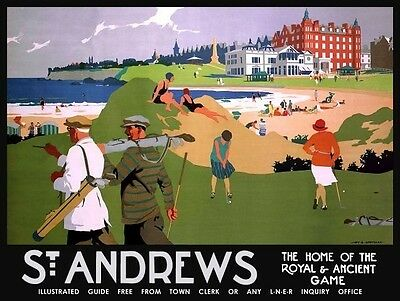St Andrews Golf Course Metal Wall Sign - Large