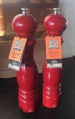 """NWT Peugeot Paris U'Select Adjustable Pepper Mill 12"""" Red Lacquer"""