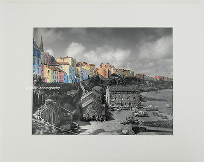 """Tenby """"The Sailing Club""""  Limited Edition Mounted Photographic Print 14x11 8x6"""