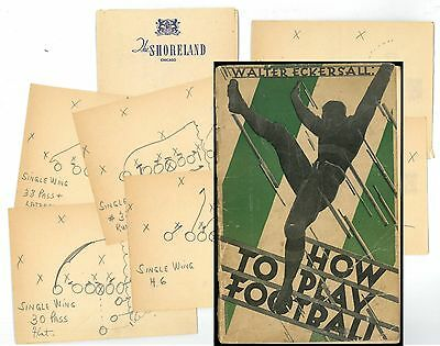 Walter Eckersall, How To Play Football,1928 Chicago Tribune Publication, History