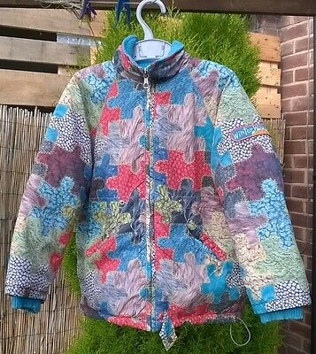 Designer Oilily  Blue Hooded Warm Padded Winter Coat Age 5