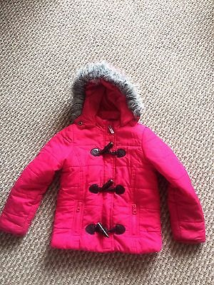 Girls coat pink shower proof hooded size4-5 years