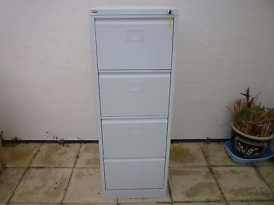 Initiative Steel Filing Cabinet 4 Drawer Goose Grey with key