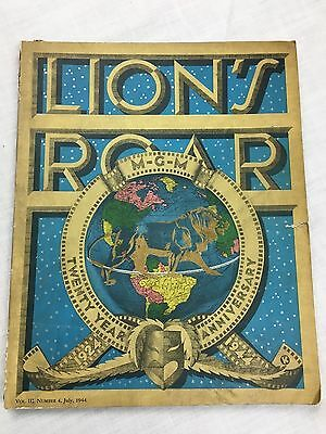 1944 LIONS ROAR MGM Trade Magazine 20th Anniversary Issue,4 movie poster foldout