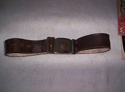Old  /  Vintage Boy Scout Belt buckle  and leather belt.