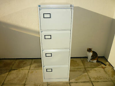 4 Drawer Steel Filing Cabinet Goose Grey with key